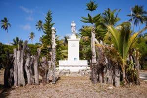 Statue, totems, île des Pins, Nouvelle-Calédonie