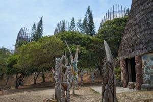 Totem, Centre culturel Tjibaou, Nouméa, Nouvelle-Calédonie