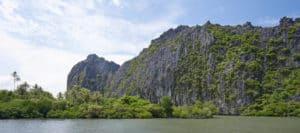 lagune, falaise lindéralique, Nouvelle-Calédonie